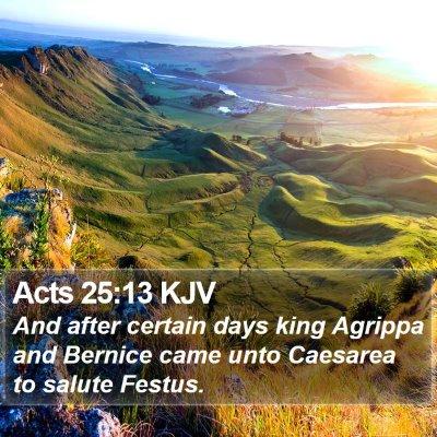 Acts 25:13 KJV Bible Verse Image