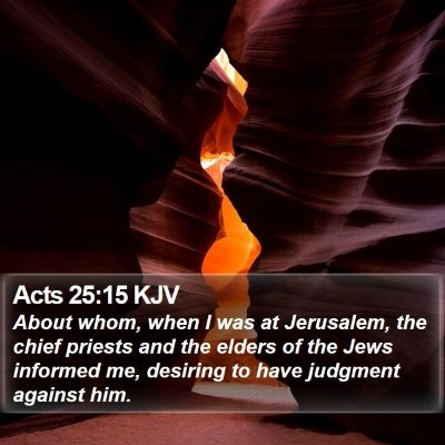 Acts 25:15 KJV Bible Verse Image