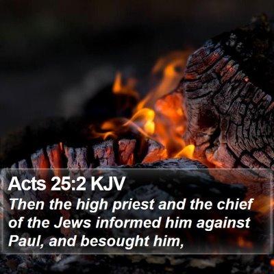 Acts 25:2 KJV Bible Verse Image