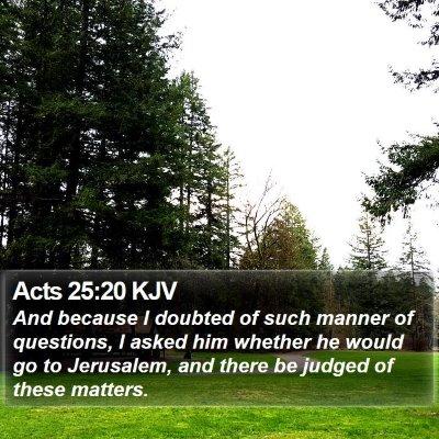 Acts 25:20 KJV Bible Verse Image