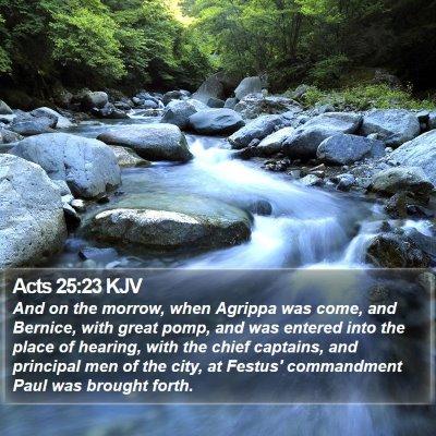Acts 25:23 KJV Bible Verse Image