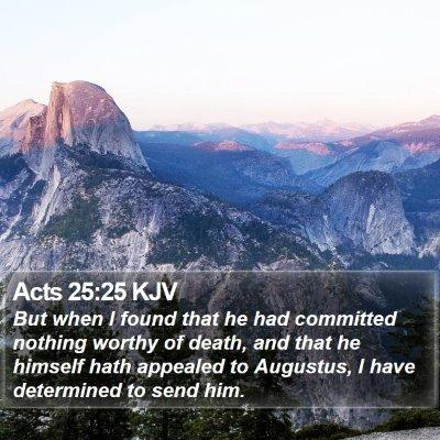 Acts 25:25 KJV Bible Verse Image