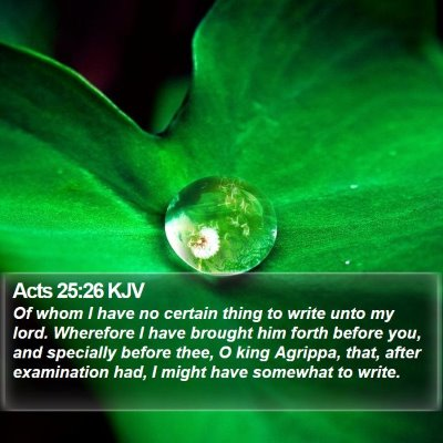 Acts 25:26 KJV Bible Verse Image