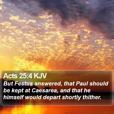 Acts 25:4 KJV Bible Verse Image