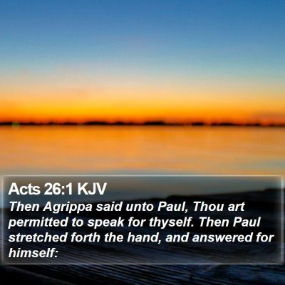 Acts 26:1 KJV Bible Verse Image