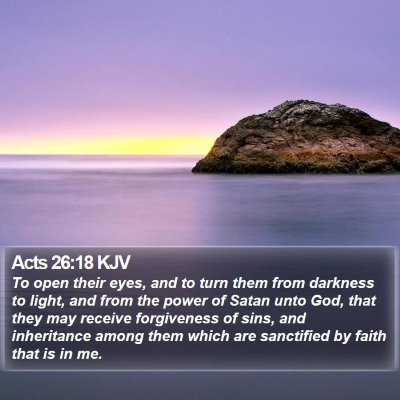 Acts 26:18 KJV Bible Verse Image