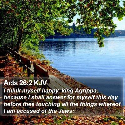 Acts 26:2 KJV Bible Verse Image