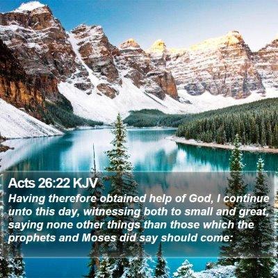 Acts 26:22 KJV Bible Verse Image