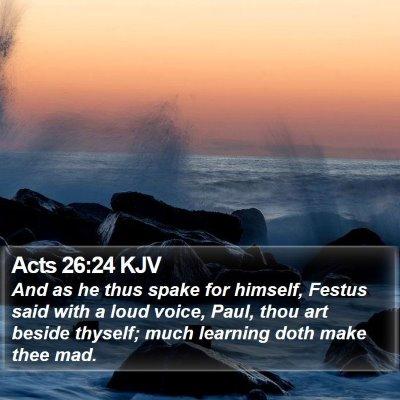Acts 26:24 KJV Bible Verse Image