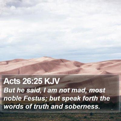 Acts 26:25 KJV Bible Verse Image