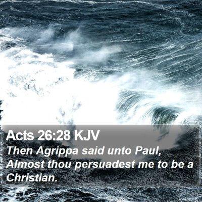 Acts 26:28 KJV Bible Verse Image
