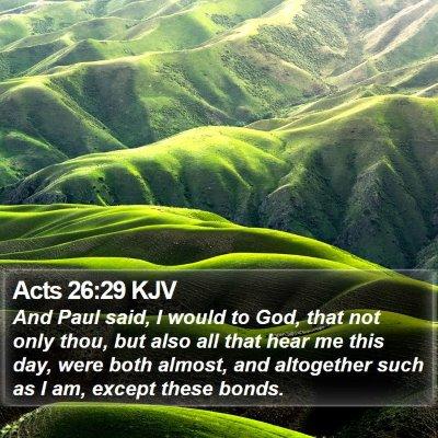 Acts 26:29 KJV Bible Verse Image