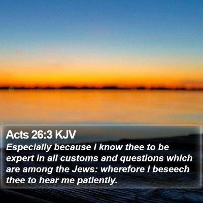 Acts 26:3 KJV Bible Verse Image