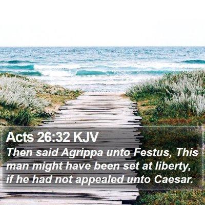 Acts 26:32 KJV Bible Verse Image