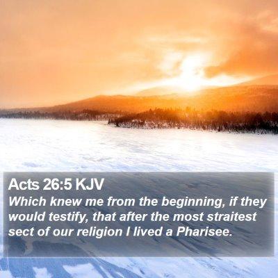 Acts 26:5 KJV Bible Verse Image