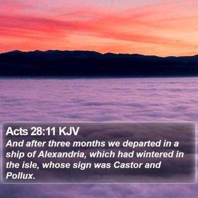 Acts 28:11 KJV Bible Verse Image