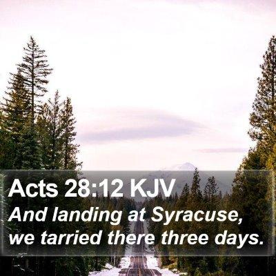 Acts 28:12 KJV Bible Verse Image
