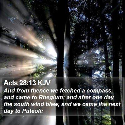Acts 28:13 KJV Bible Verse Image