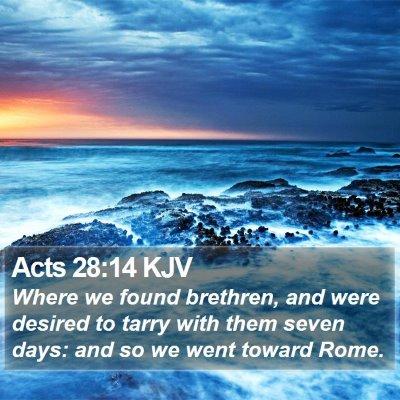 Acts 28:14 KJV Bible Verse Image