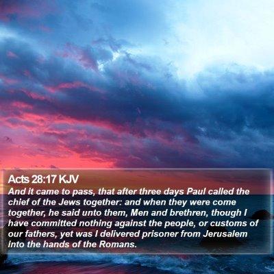 Acts 28:17 KJV Bible Verse Image