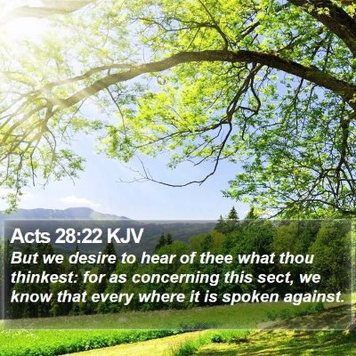 Acts 28:22 KJV Bible Verse Image