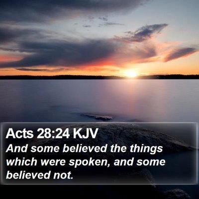 Acts 28:24 KJV Bible Verse Image
