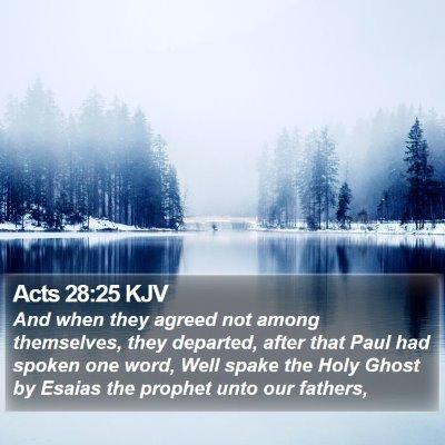 Acts 28:25 KJV Bible Verse Image