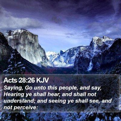 Acts 28:26 KJV Bible Verse Image