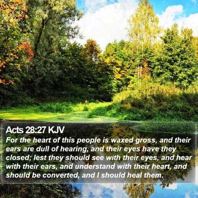 Acts 28:27 KJV Bible Verse Image