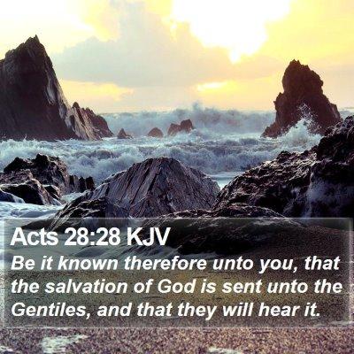 Acts 28:28 KJV Bible Verse Image