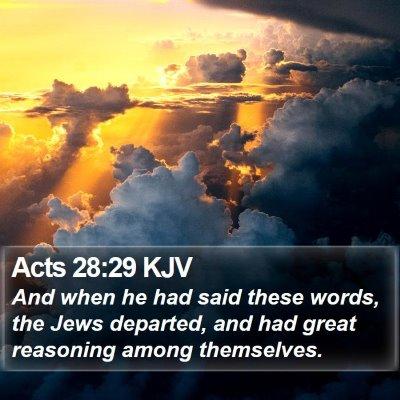 Acts 28:29 KJV Bible Verse Image