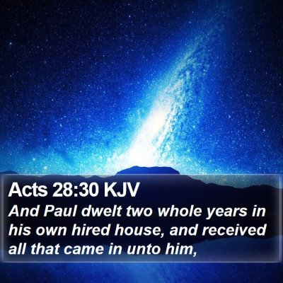 Acts 28:30 KJV Bible Verse Image