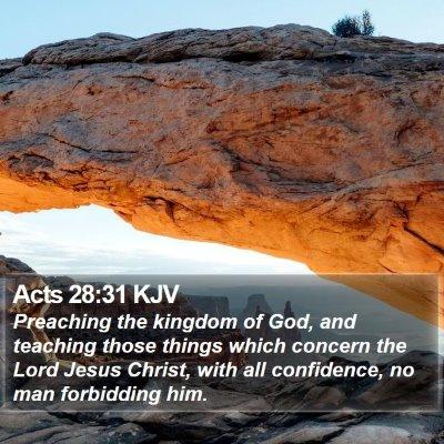 Acts 28:31 KJV Bible Verse Image