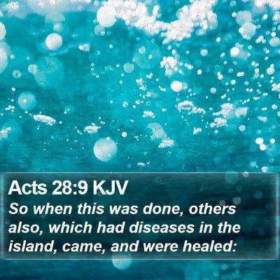 Acts 28:9 KJV Bible Verse Image