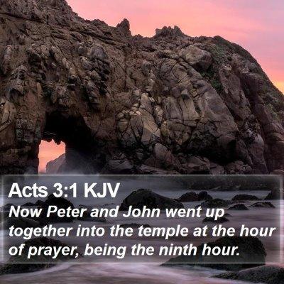 Acts 3:1 KJV Bible Verse Image