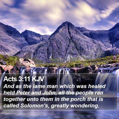 Acts 3:11 KJV Bible Verse Image