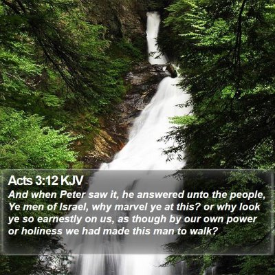 Acts 3:12 KJV Bible Verse Image