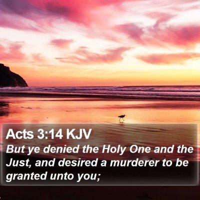 Acts 3:14 KJV Bible Verse Image