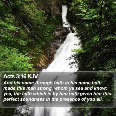Acts 3:16 KJV Bible Verse Image