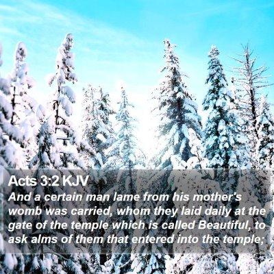 Acts 3:2 KJV Bible Verse Image