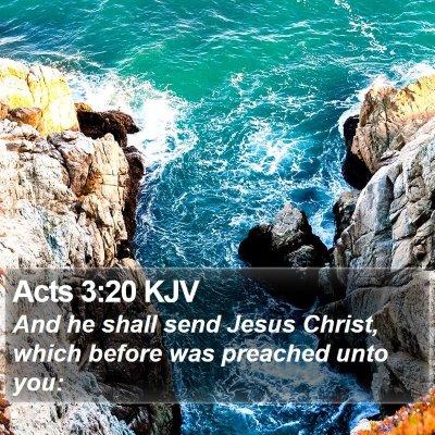 Acts 3:20 KJV Bible Verse Image