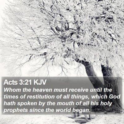 Acts 3:21 KJV Bible Verse Image