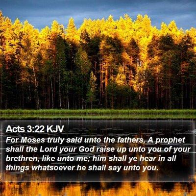 Acts 3:22 KJV Bible Verse Image