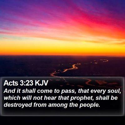 Acts 3:23 KJV Bible Verse Image