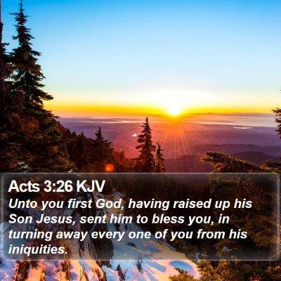 Acts 3:26 KJV Bible Verse Image