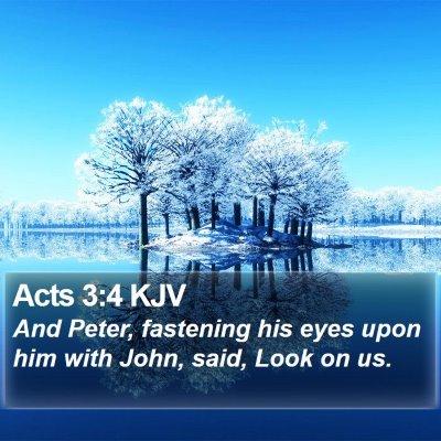 Acts 3:4 KJV Bible Verse Image