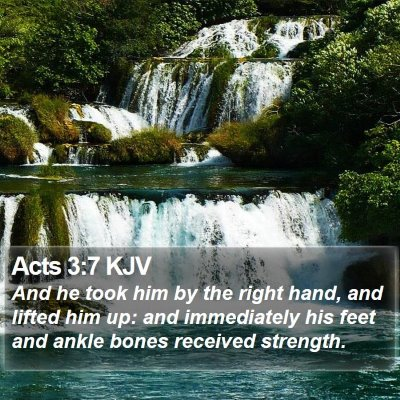 Acts 3:7 KJV Bible Verse Image