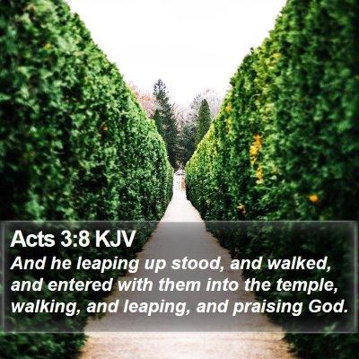 Acts 3:8 KJV Bible Verse Image
