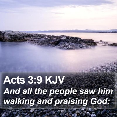 Acts 3:9 KJV Bible Verse Image