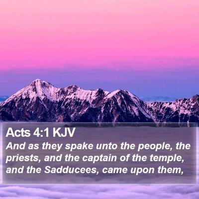 Acts 4:1 KJV Bible Verse Image